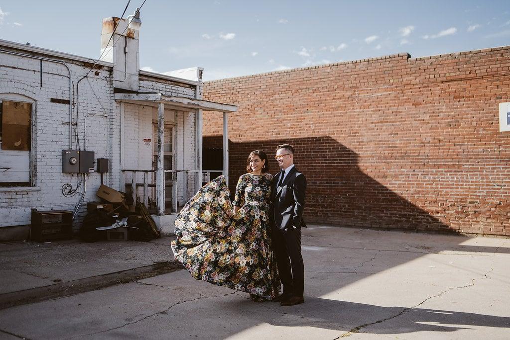 Lindsey Blake A Vintage Inspired Unconventional Denver Wedding
