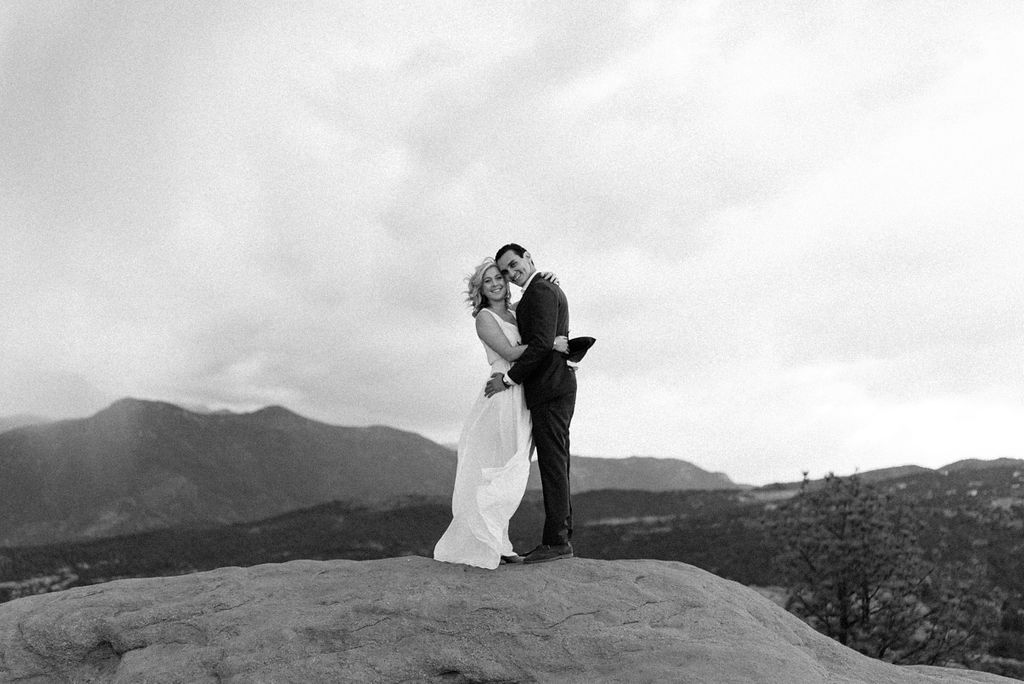 Garden of the Gods Wedding Couple