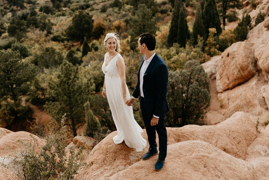 Romantic Garden of the gods Engagement Session