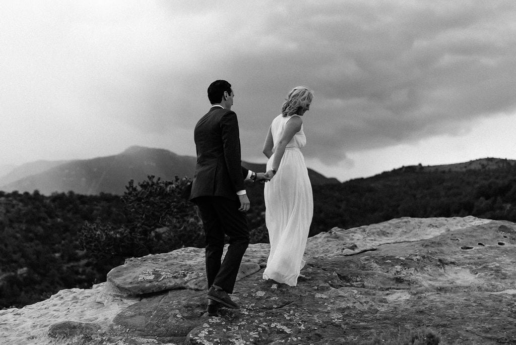 Wedding day in garden of the gods Colorado Springs