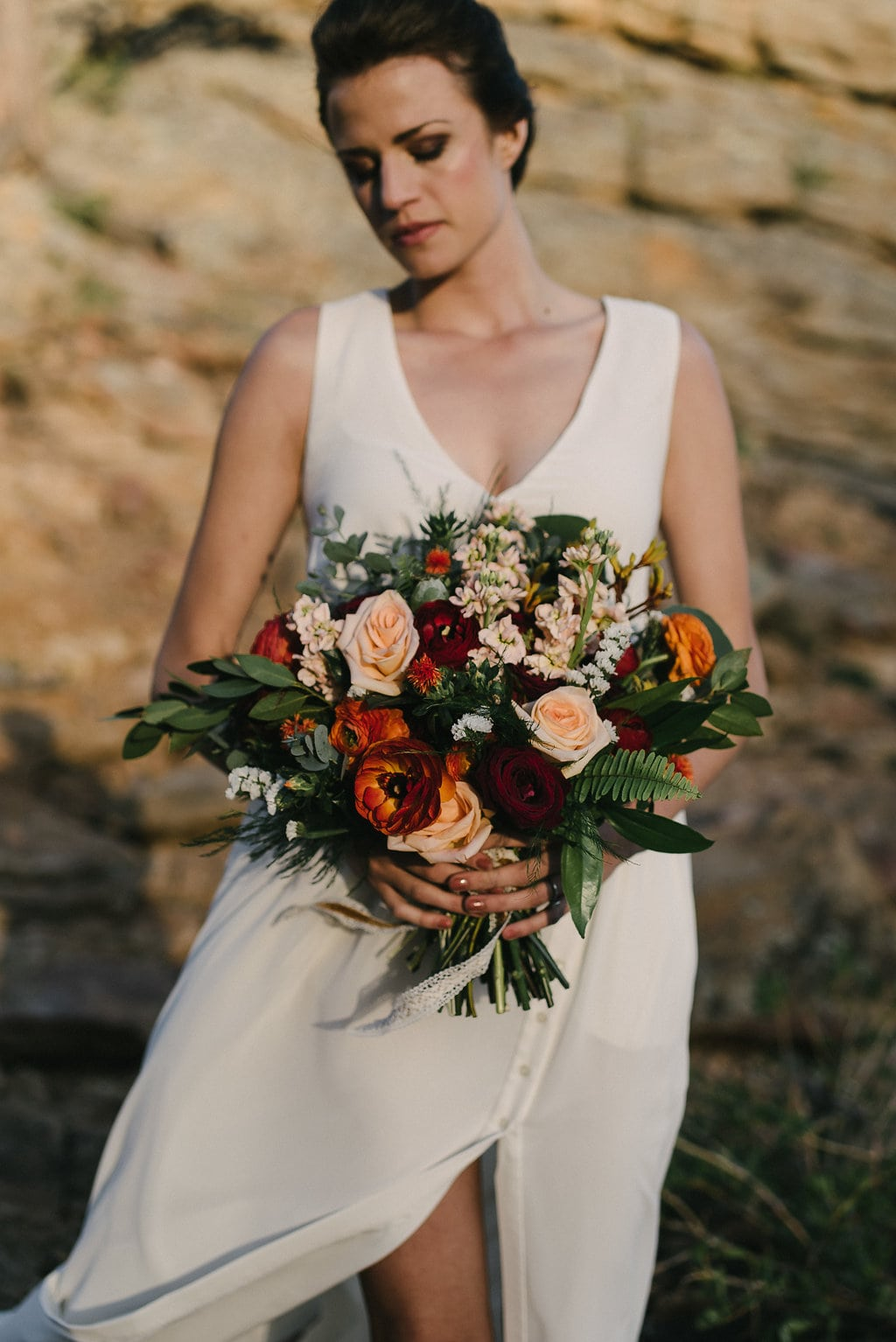 Beautiful Summer Wedding Florals in Estes Park Wedding in Colorado