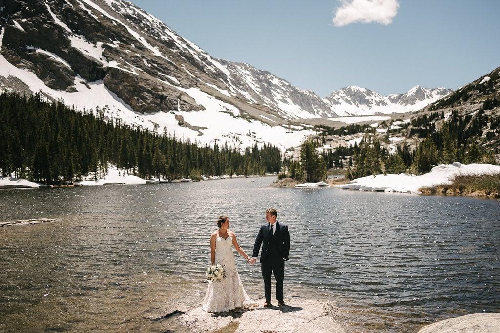 Colorado Mountain Wedding at Blue Lakes near Breckenridge