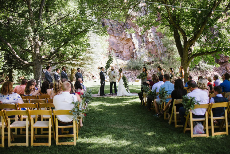 Lyons River Bend wedding ceremony