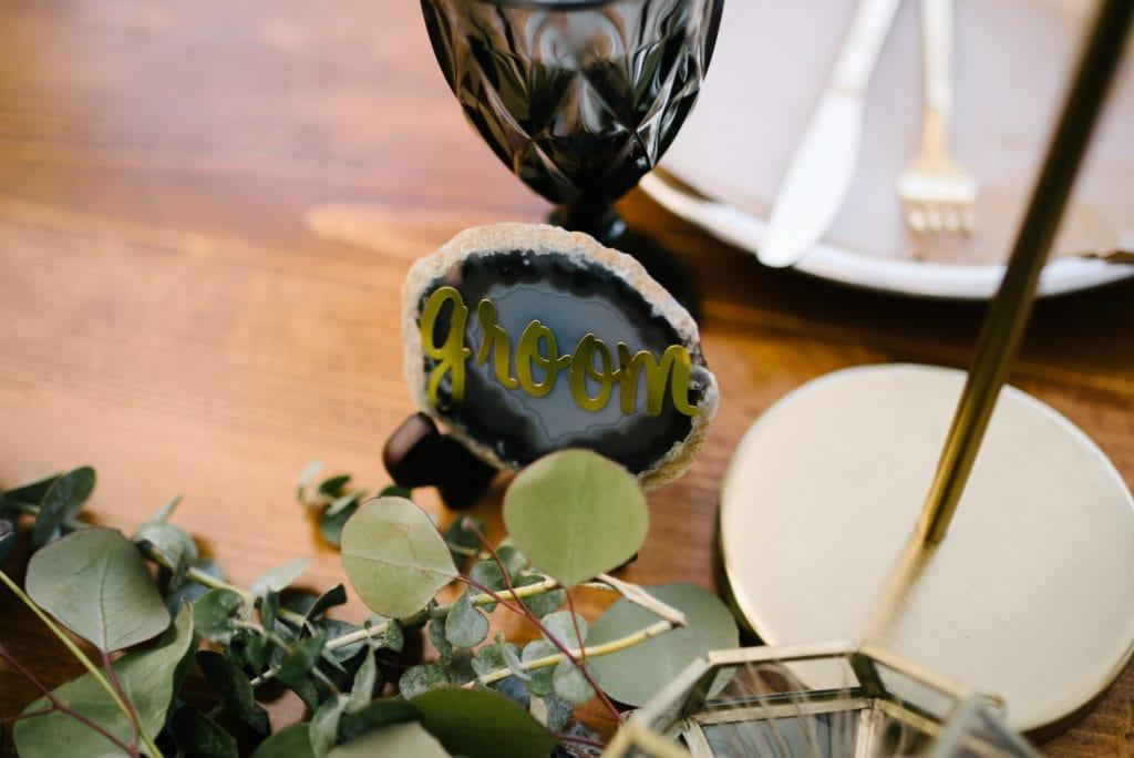 geode wedding details