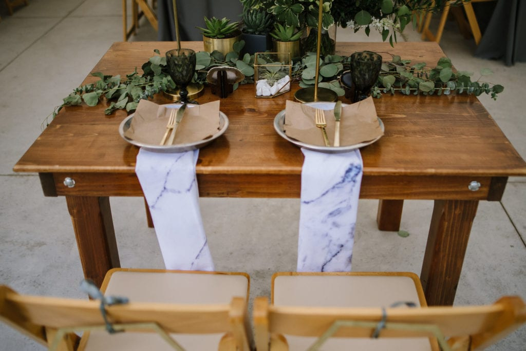 marble wedding details