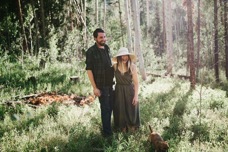 Engagement Photos Aspen Trees