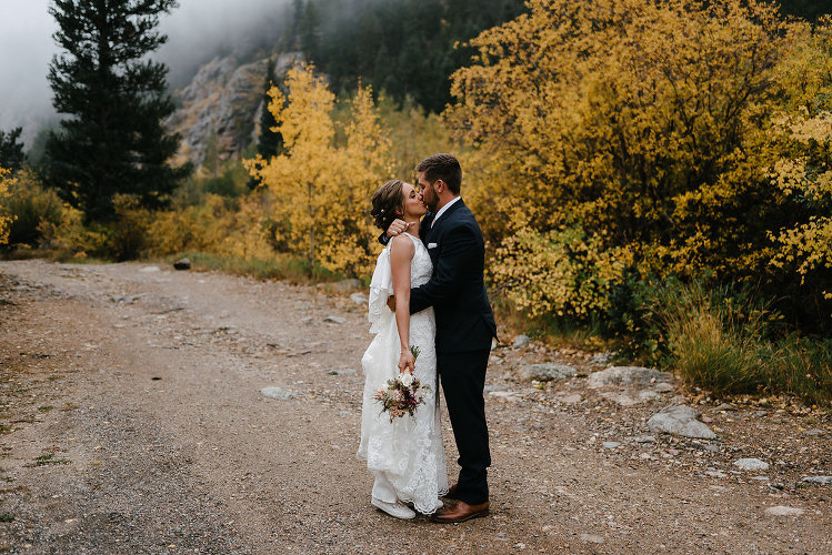 Foggy Fall Colorado Wedding