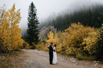 Foggy Fall Colorado Wedding
