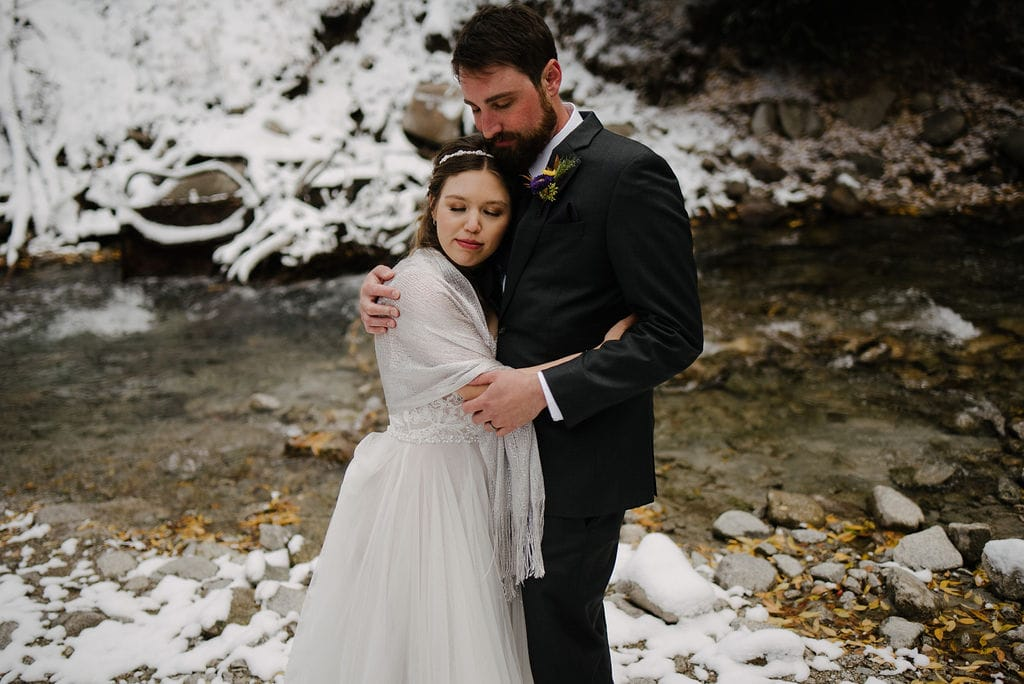 Fall Wedding with Snow in Breckenridge
