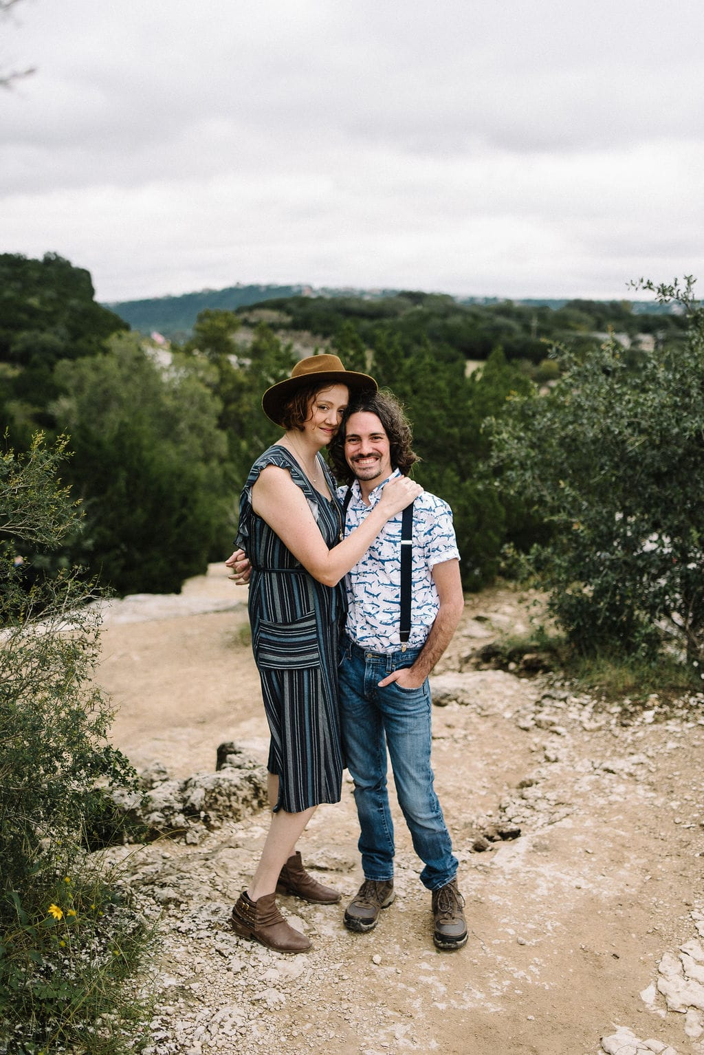 Engagement photos with suspenders. Hipster Engagement Photos in Austin, TX