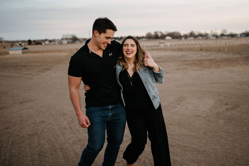 Playful Engagement Session in Fort Collins Colorado