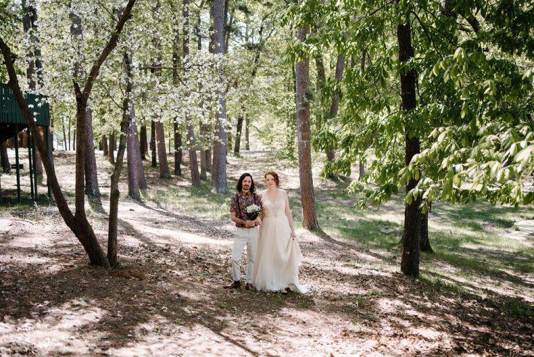Wedding in the Woods, Arkansas Wedding.