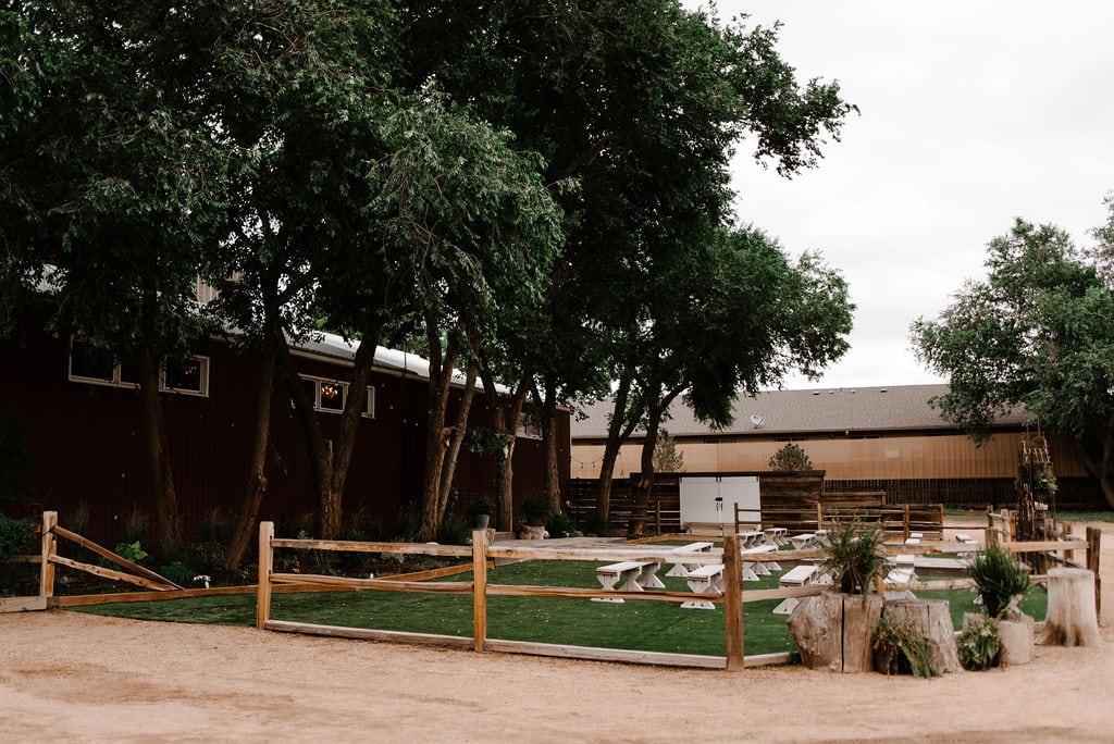Rustic Lace Barn in Colorado Springs