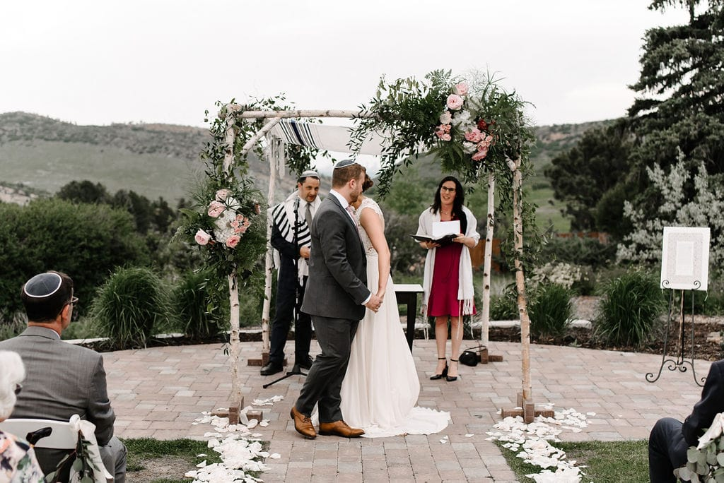 Jewish wedding in Colorado