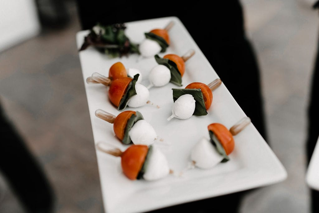 Caprese Reception appetizers
