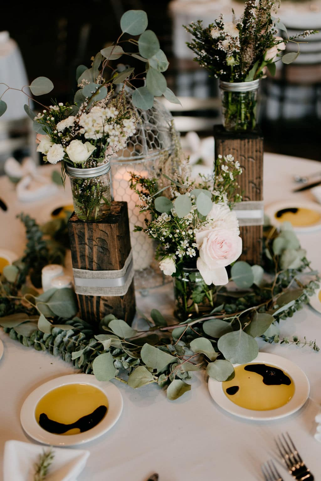 Wedding Greenery Table Decor and Floral Centerpieces