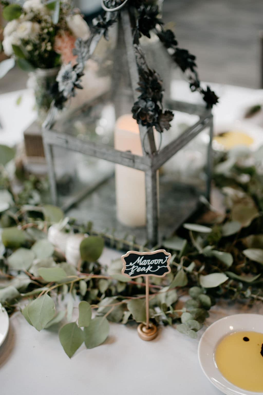Wedding Greenery Table Decor