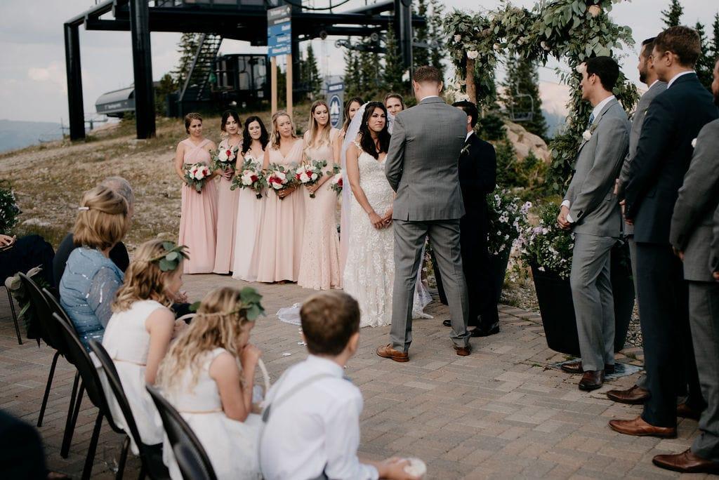 Wedding Ceremony at Lunch Rock in Winter Park Colorado