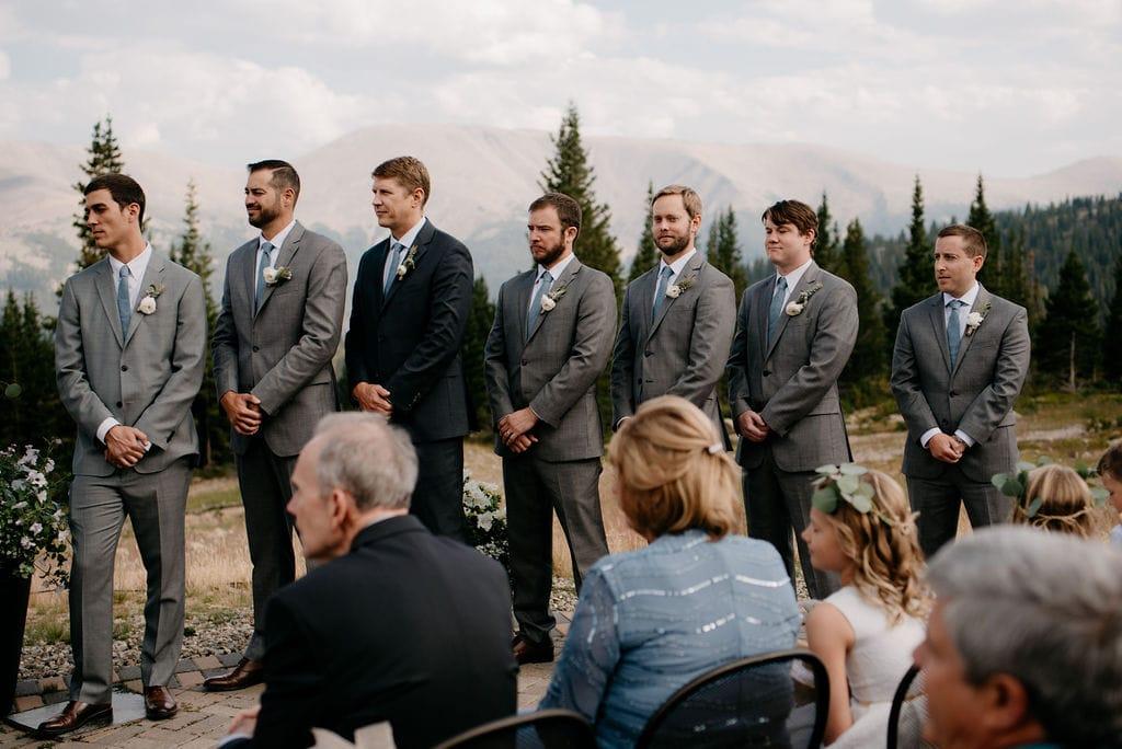 groomsmen at a wedding ceremony