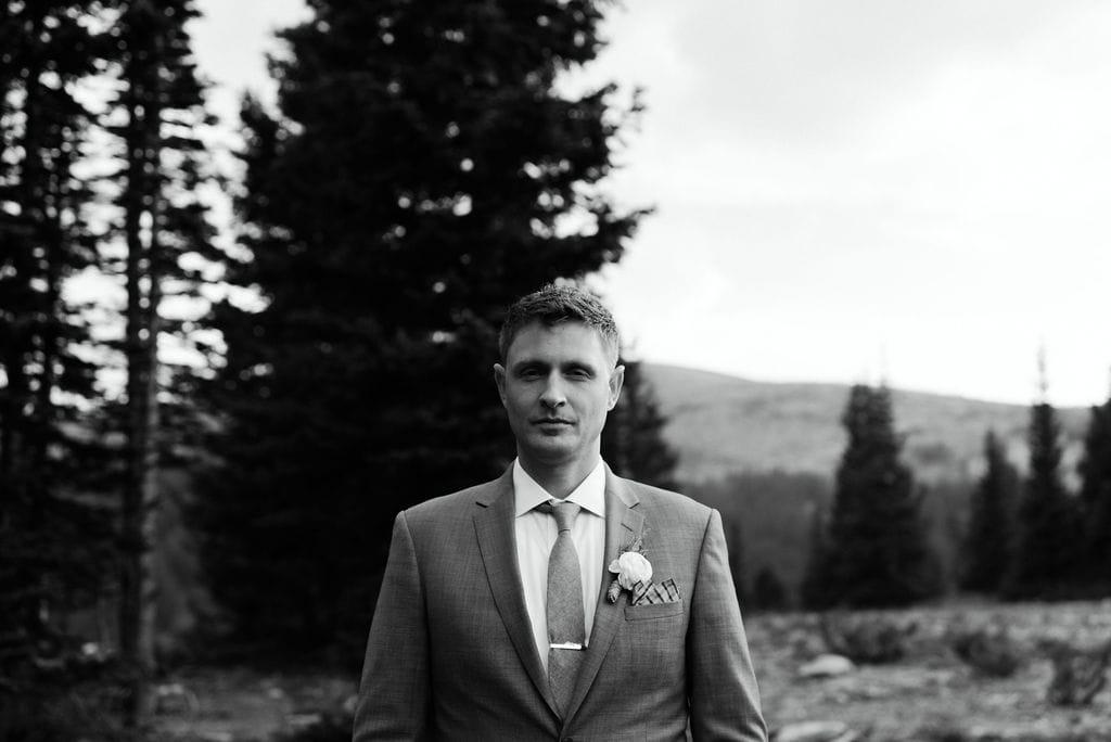 Groom Portraits in Winter Park, Colorado