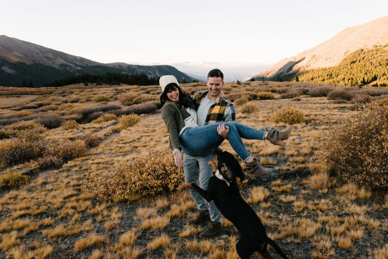 dog friendly guanella pass engagement session