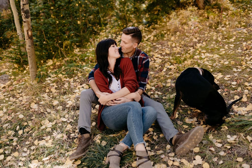 Romantic Fall Colors Engagement Session