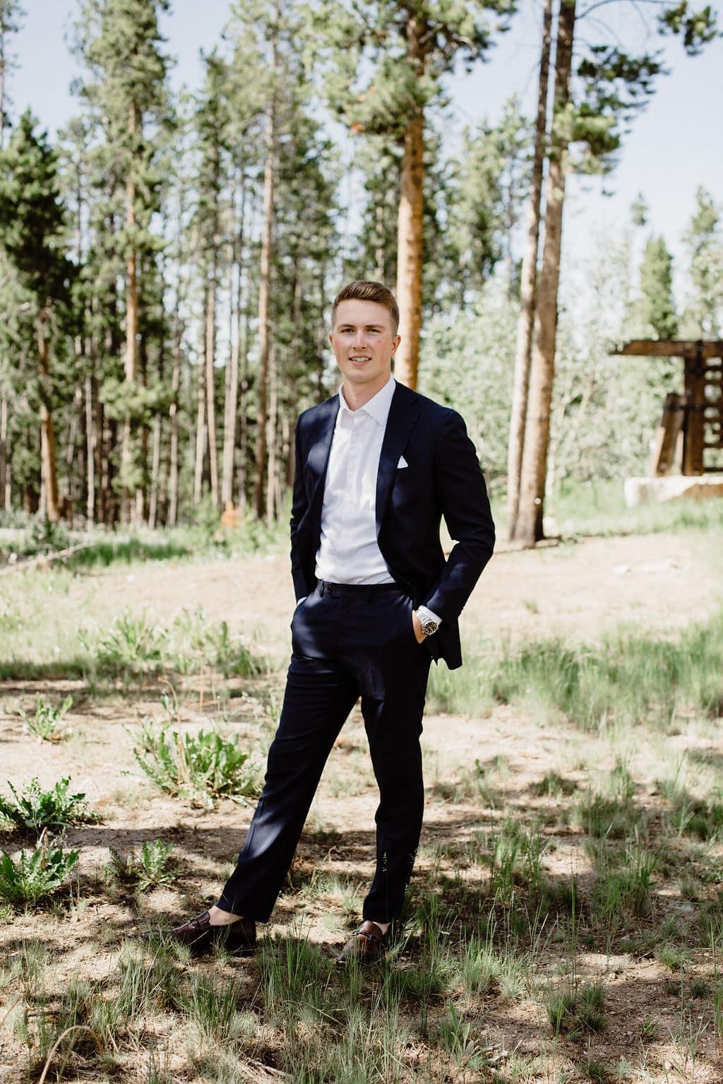 Groom Portraits in Colorado