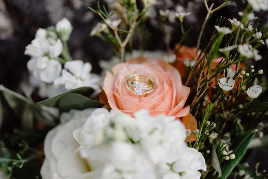 Ring Shot in Bouquet of Flowers