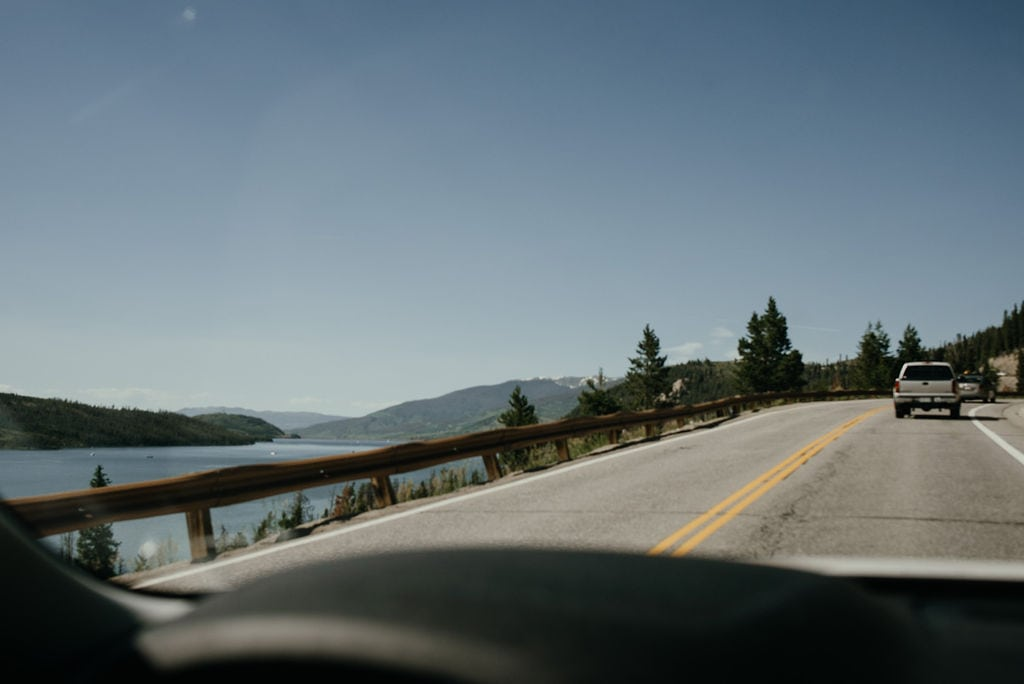 Driving to Sapphire Point in Colorado
