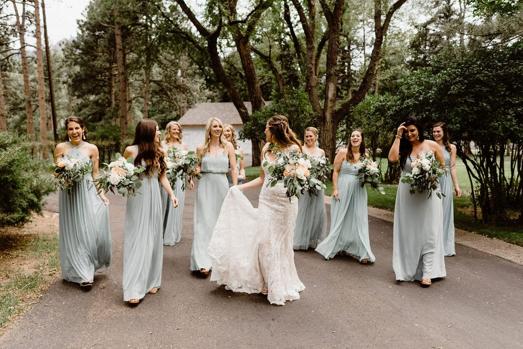 Bride and Bridesmaids at Cheyenne Mountain Country Club