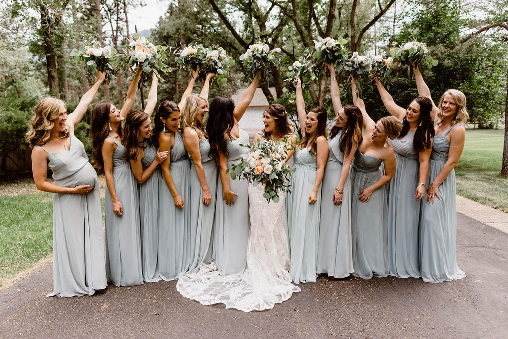 Cheyenne Mountain Country Club Wedding Bridesmaids