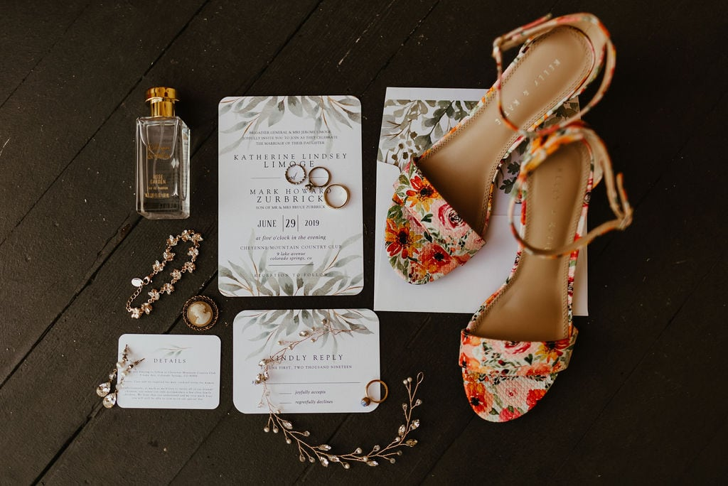 Wedding Bridal Details and Invitation Suite