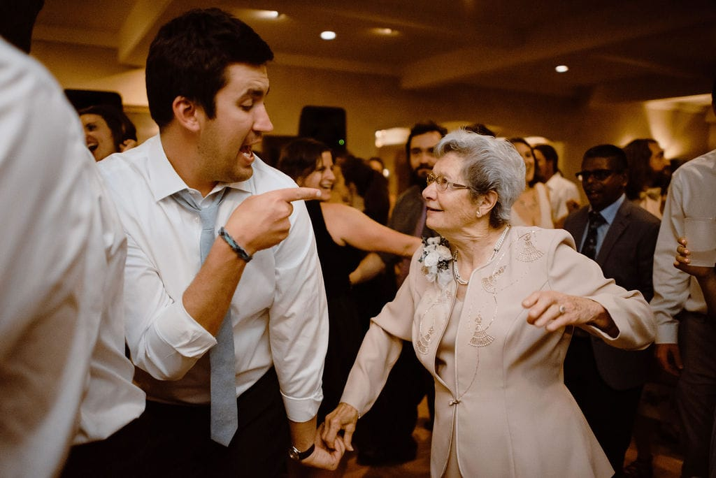Grandma Dancing at Wedding Reception