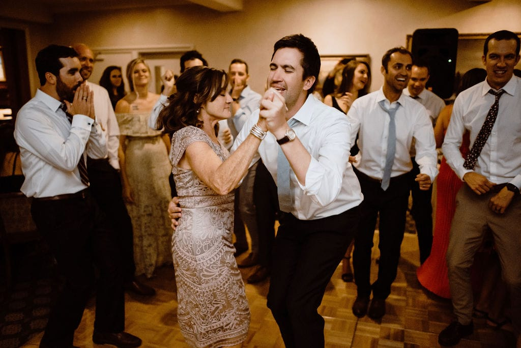 Energetic Dancing at Cheyenne Mountain Wedding Reception