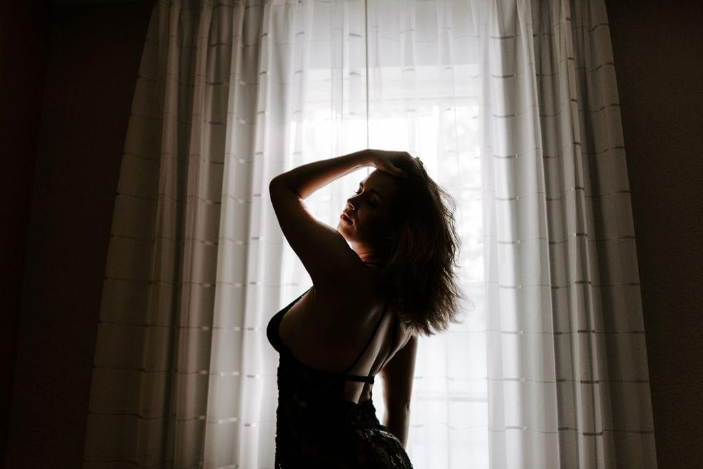 Boudoir Silhouette In Front of Window