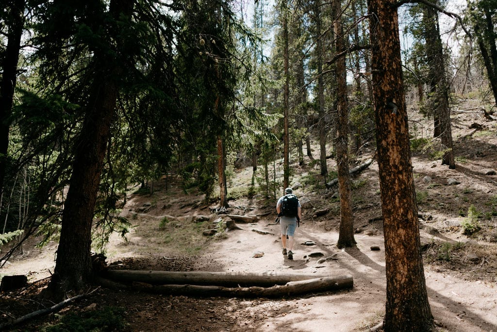 Hiking to maxwell falls in evergreen colorado