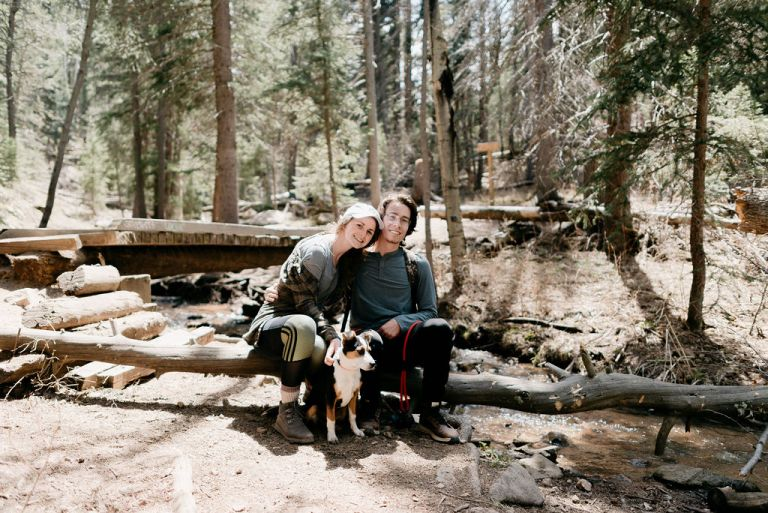 Hiking Couples session at maxwell falls in evergreen