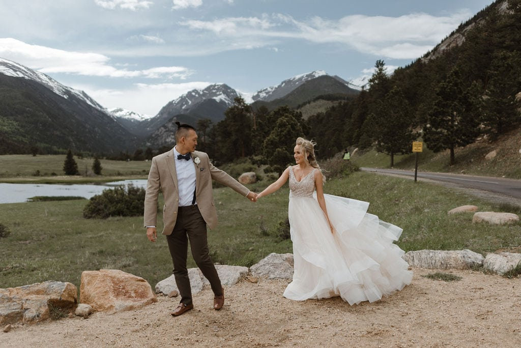 Rocky Mountain National Park Wedding Portraits