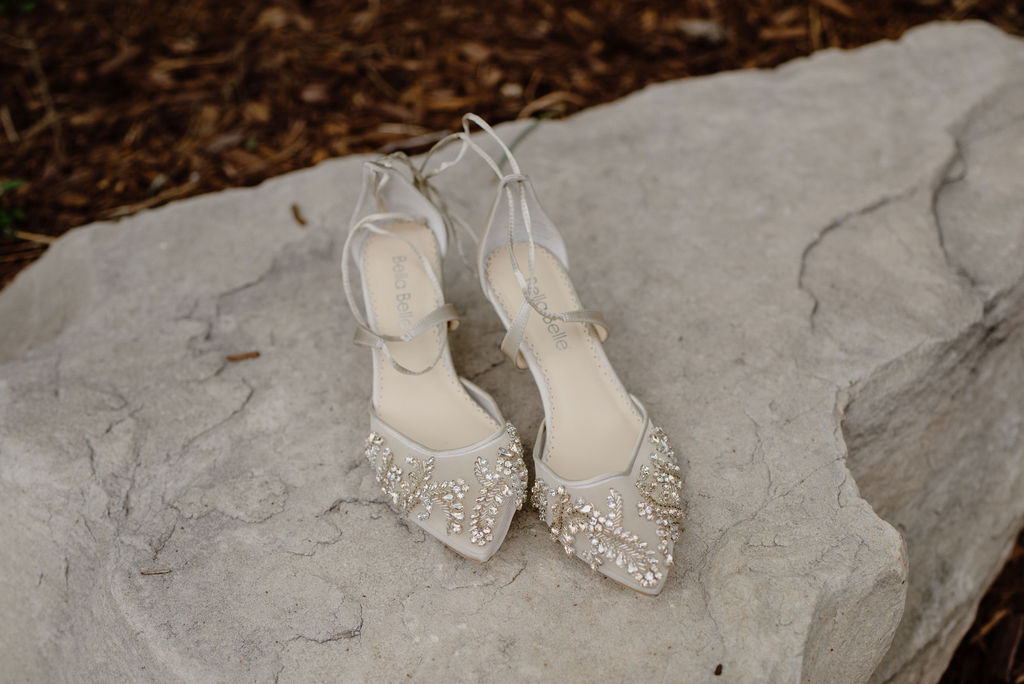 Beautiful brides heels at Della Terra in Estes Park
