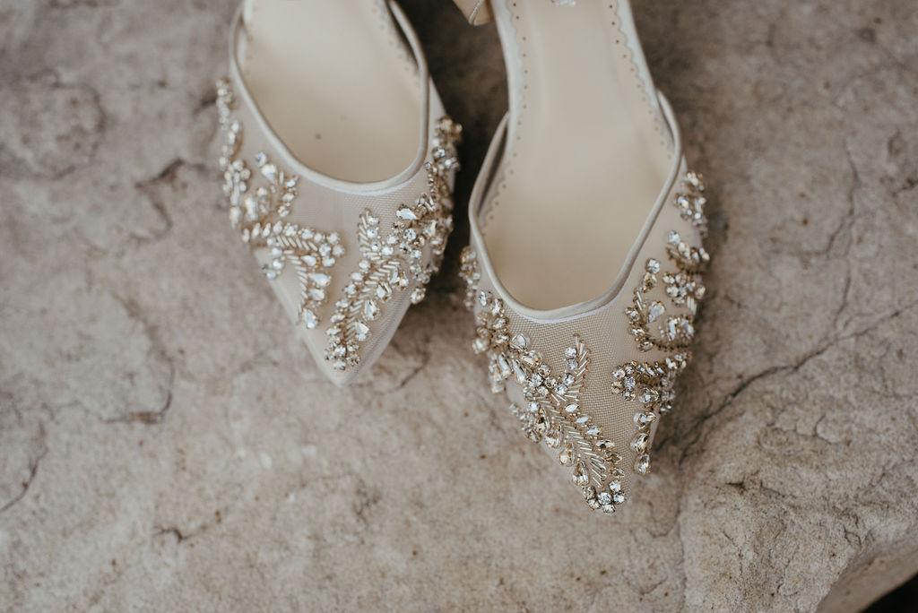 Beautiful brides heels at Della Terra in Estes Park