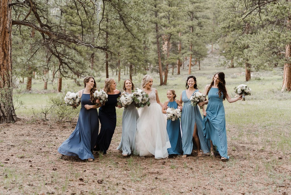 Bride and Bridesmaids at Della Terra in Estes Park