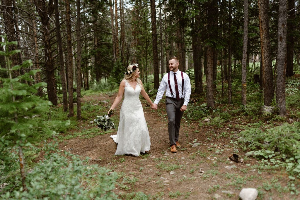 Romantic Wedding Photos in the Woods. Ten Mile Station Wedding