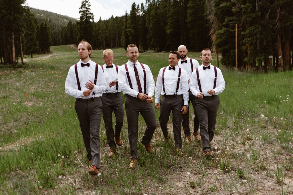 Groomsmen Portraits at Ten Mile Station wedding in Breckenridge