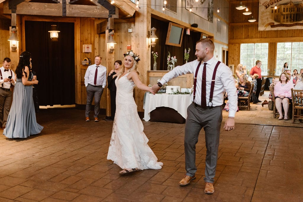 Bride and Groom First Dance at Ten Mile Station Wedding