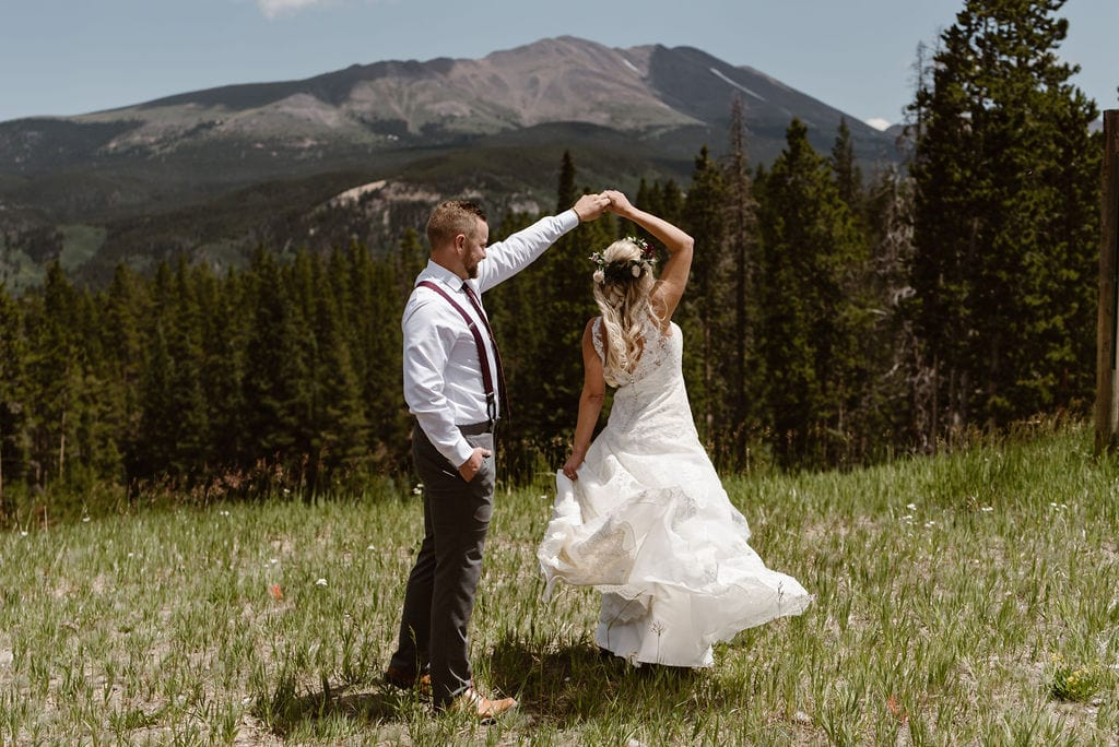 Dancing on the mountain side in breckenridge colorado