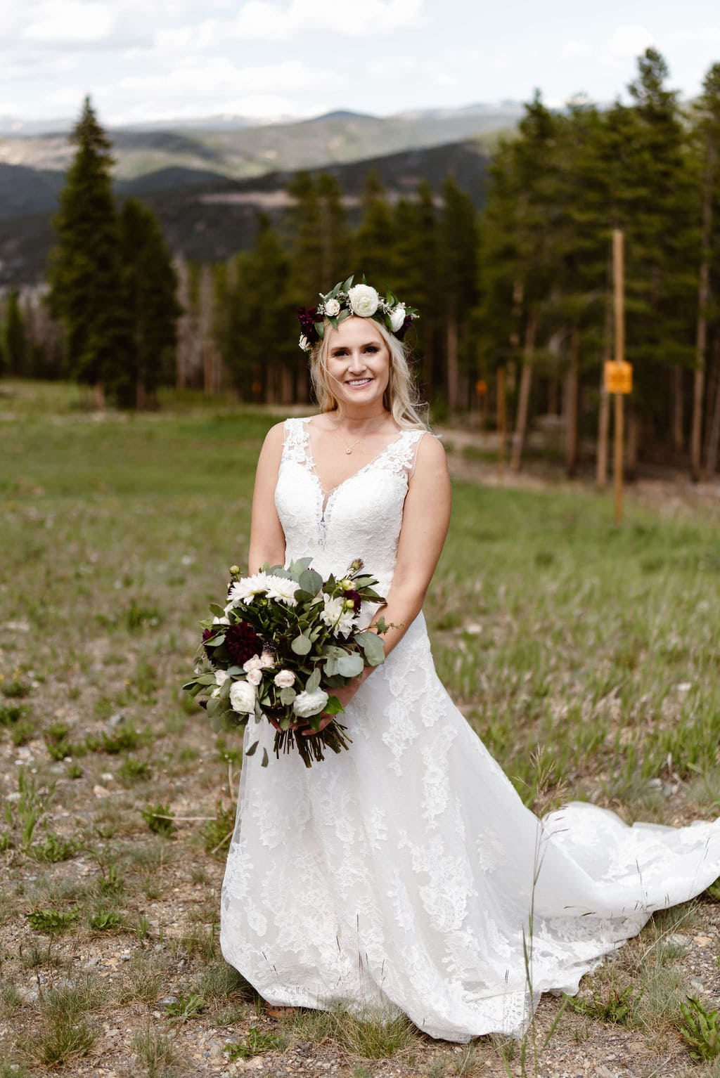Bridal Portrait at Ten Mile Station