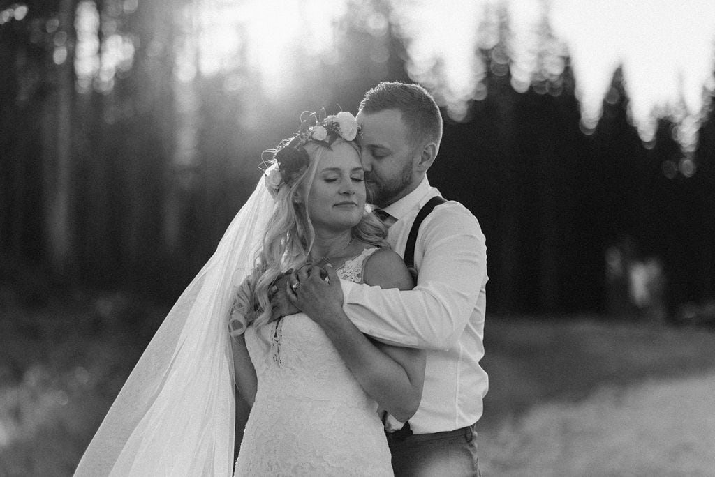 Sunset Wedding Portraits in Breckenridge Colorado