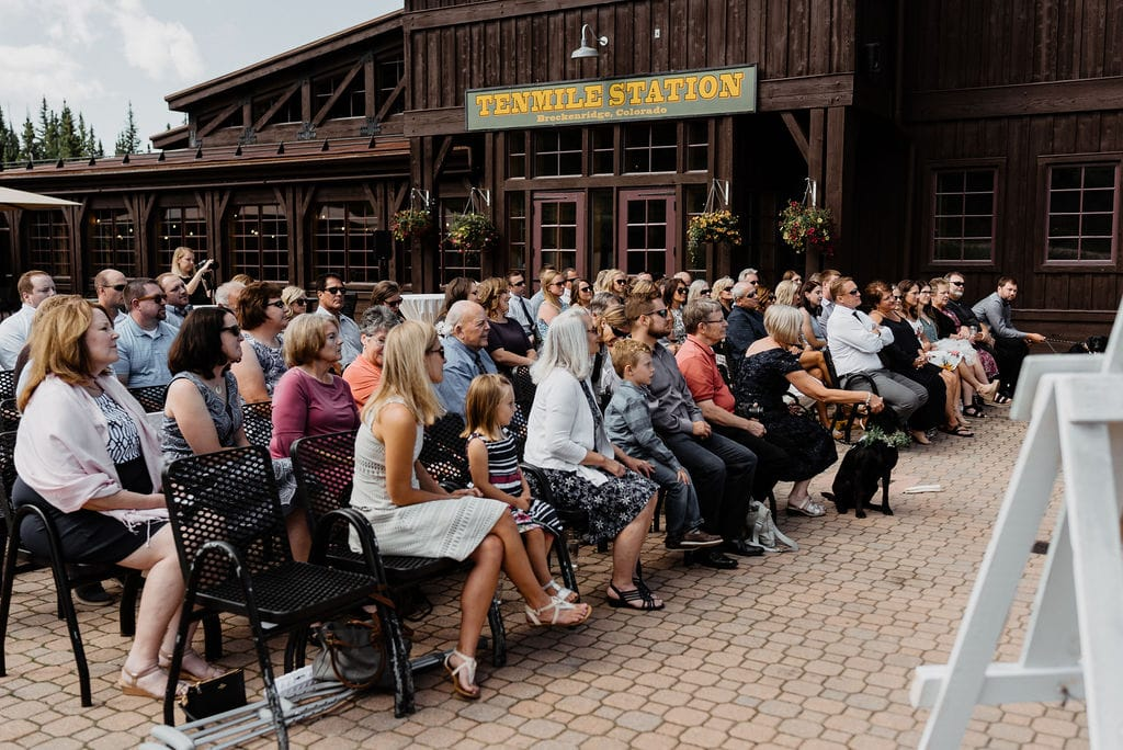 Ten mile station wedding ceremony in breckenridge colorado