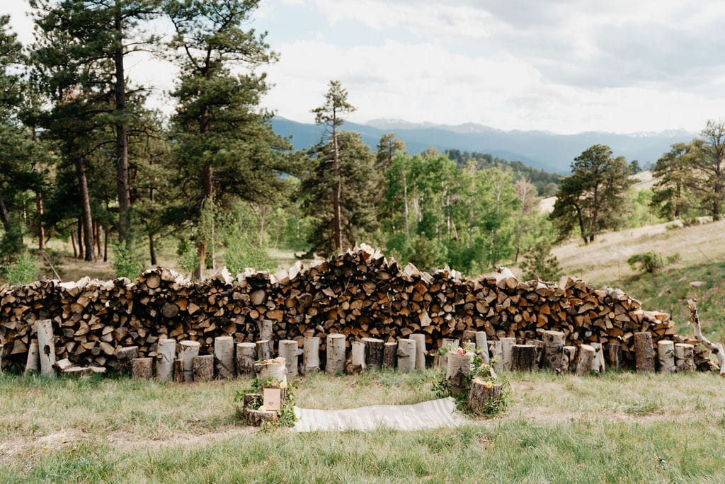 Golden Colorado Elopement Locations with a Mountain View