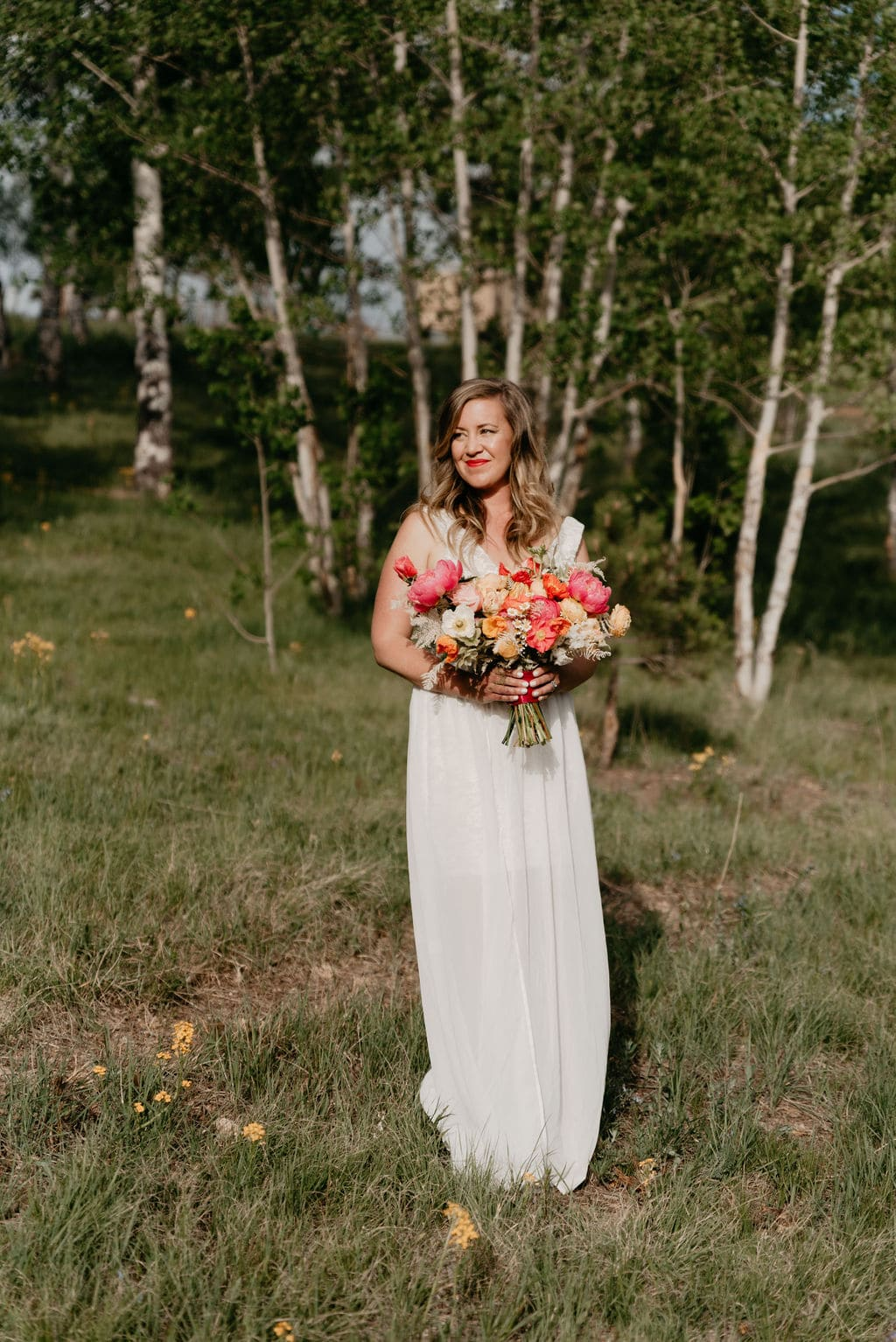 bridal portraits with beautiful wedding florals